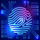 pic of fingerprint  - Fingerprint security system - JPG