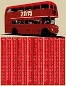 image of bus driver  - 2015 calendar with london red bus  - JPG