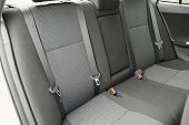 picture of seatbelt  - Car interior with back seats - JPG