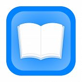 pic of glossary  - Opened book icon isolated over white background - JPG
