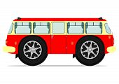 picture of motor-bus  - Funny bus - JPG