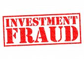 pic of hustle  - INVESTMENT FRAUD red Rubber Stamp over a white background - JPG
