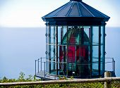 image of mear  - Cape Meares Lighthouse on the Oregon Coast on a Clear Sunny Day - JPG