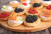 stock photo of canapes  - canape - JPG