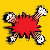 stock photo of explosion  - vector cartoon pop art explosion - JPG