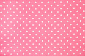 picture of poka dot  - background of pink kitchen towel with poka dots - JPG