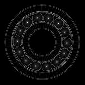 pic of bearings  - steel ball roller bearings body structure wire model - JPG