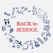 picture of sketch book  - Blue Ink Back to School Doodles with Book - JPG