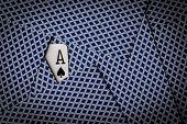 stock photo of ace spades  - poker cards spread on table with ace of spades showing - JPG