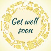 foto of get well soon  - Get well soon card - JPG