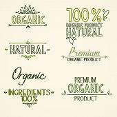 image of food label  - organic Health Food Headings natural product nature - JPG