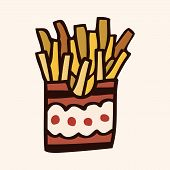 pic of high calorie foods  - Fast Food French Fries Flat Icon Elements - JPG
