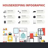 foto of house cleaning  - House cleaning infographic made in vector - JPG
