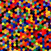 foto of hexagon pattern  - Abstract colorful mosaic hexagons - JPG