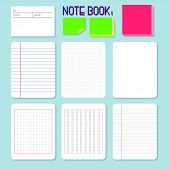 picture of graph paper  - different style of paper for writing or note - JPG