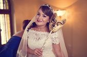 foto of dowry  - Capture of Beautiful bride on her wedding day - JPG