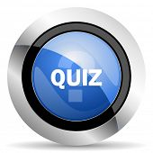 image of quiz  - quiz icon original modern design for web and mobile app on white background  - JPG