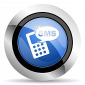 foto of sms  - sms icon phone sign original modern design for web and mobile app on white background  - JPG