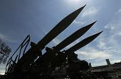 picture of anti  - Surface to air anti aircraft missiles on louncher - JPG