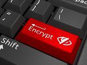 stock photo of vpn  - Encrypt key on keyboard  - JPG