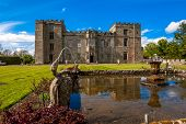 stock photo of william wallace  - Chillingham Castle, UK.- 17th May 2015: Chillingham Castle is home to Sir Humphry Wakefield and his wife The Hon. Lady Wakefield and their family.  The house is open to the public to visit & stay. 