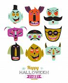 image of evil  - Bright trick or treat card in vector - JPG