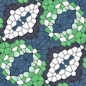 picture of kaleidoscope  - Kaleidoscopic seamless decoration background  - JPG