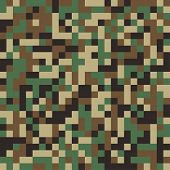 picture of camouflage  - Abstract  Military Camouflage Seamless Background Made of Geometric Square Shapes - JPG