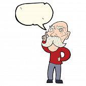 stock photo of annoying  - cartoon annoyed old man with speech bubble - JPG