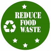 foto of reduce  - Green label with text Reduce Food Waste - JPG