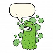 picture of funny ghost  - cartoon funny ghost with speech bubble - JPG