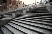 picture of piazza  - Spanish square with Spanish Steps in Rome Italy piazza Spagna - JPG
