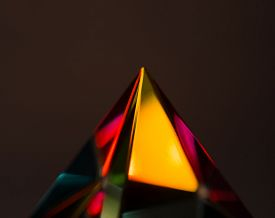 stock photo of prism  - Refractions of light in a glass prism - JPG