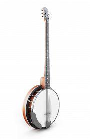 image of banjo  - Banjo isolated on white background - JPG