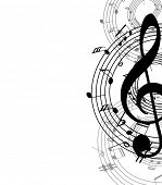 image of music symbol  - music abstract background - JPG
