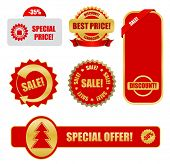 design elements for business - sale tags poster