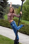 Beautiful Girl Dancing On The Pole