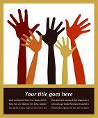 Постер, плакат: Счастливые руки с копией пространства вектор