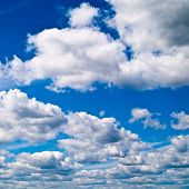 foto of ozone layer  - blue sky with white clouds - JPG