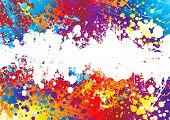 Постер, плакат: Радуга цветные абстрактный фон с белой полосой