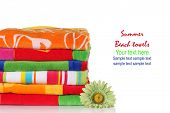 stock photo of summer beach  - Summer beach towels - JPG