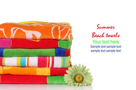 pic of summer beach  - Summer beach towels - JPG