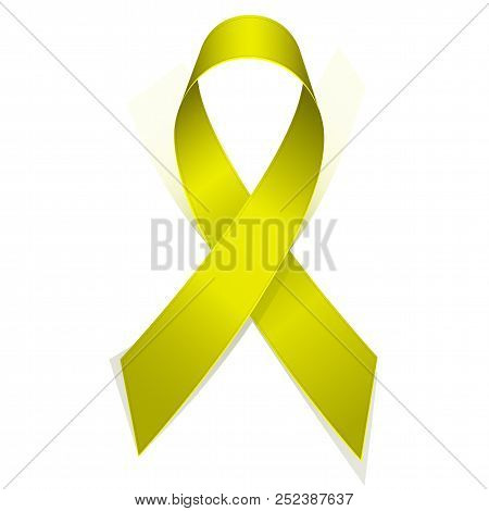 Yellow Textile Ribbon Emblem Of