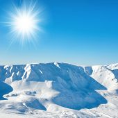 Range Of White Winter Mountains Peaks poster
