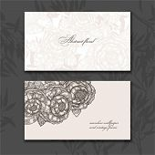 Business card - rose