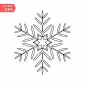 Snowflake Icon, Vector Snowflake Sign, Isolated Snowflake Symbol poster