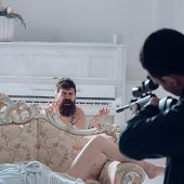 Husband Found Lovers, Killed Wife And Threatening To Bearded Lover. Man With Beard Naked, Pray For M poster