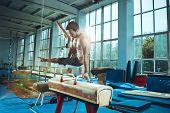 The Sportsman During Difficult Exercise, Sports Gymnastics poster