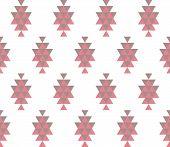 Tribal Background. Seamless Geometric Pattern. Seamless Abstract Triangle Geometrical Background. In poster