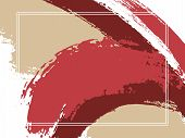 Horizontal Border With Paint Brush Strokes Background.  Acrylic Design Template For Card. Vector Bor poster